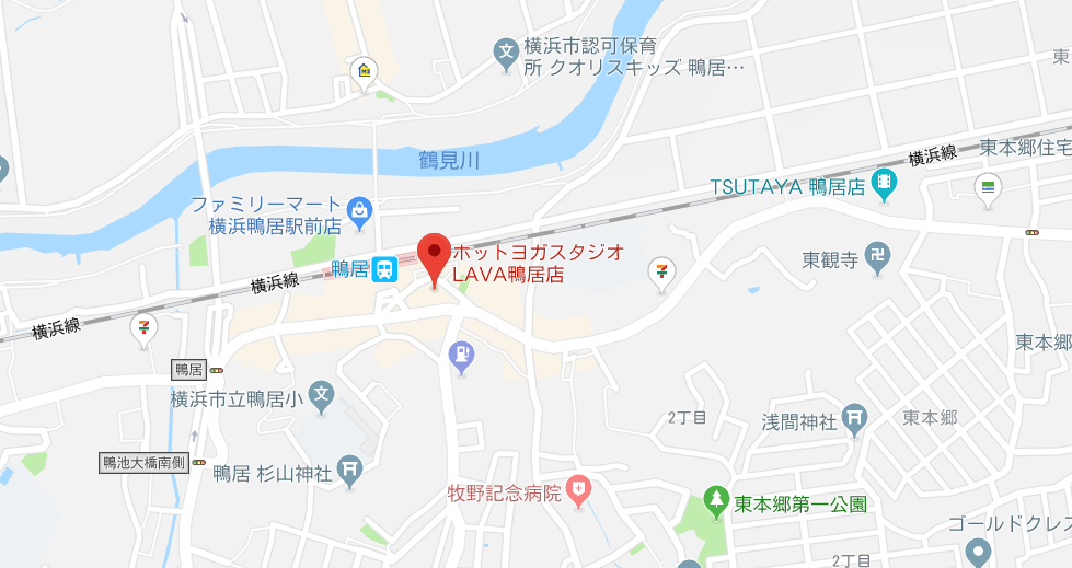 鴨居駅近くにあるヨガのマップ検索結果