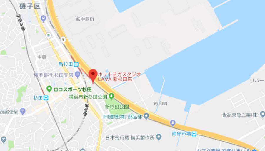 ヨガ新杉田マップ