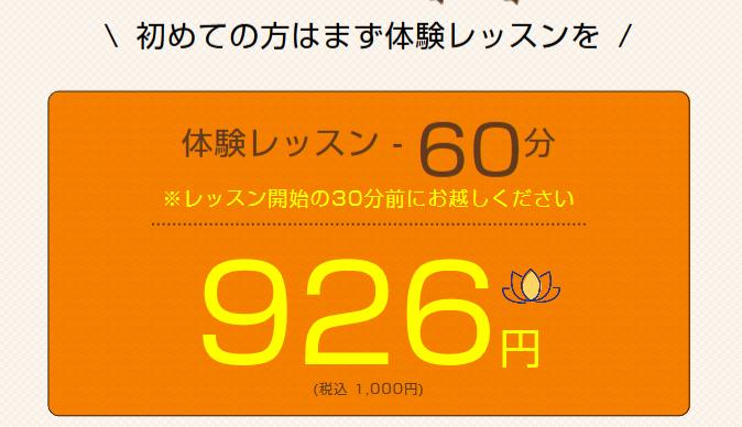 鶴ヶ峰駅周辺のヨガの体験レッスンの一例