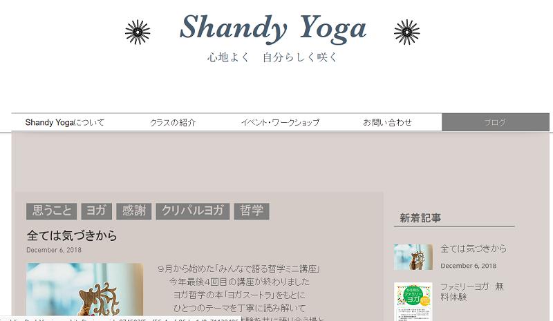 Shandy Yogaキャプチャ