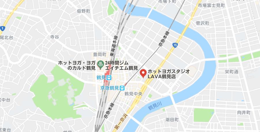 鶴見駅周辺のヨガマップ