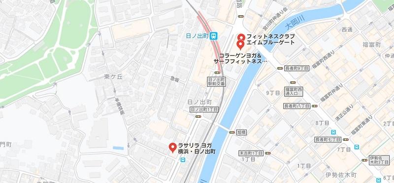 日ノ出町のヨガスタジオマップ検索結果