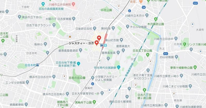 菊名駅周辺のヨガスタジオ、マップ検索
