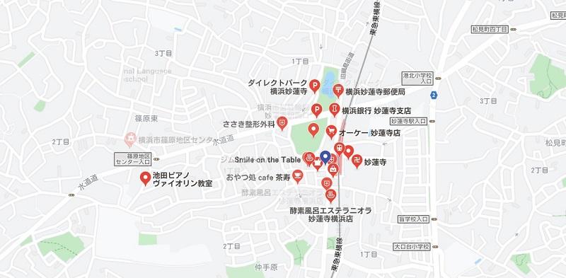 妙蓮寺駅周辺のヨガマップ検索結果