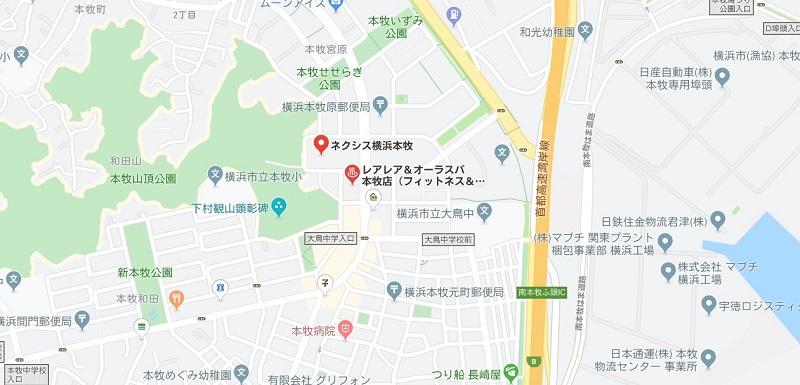横浜本牧駅周辺のヨガ、マップ検索