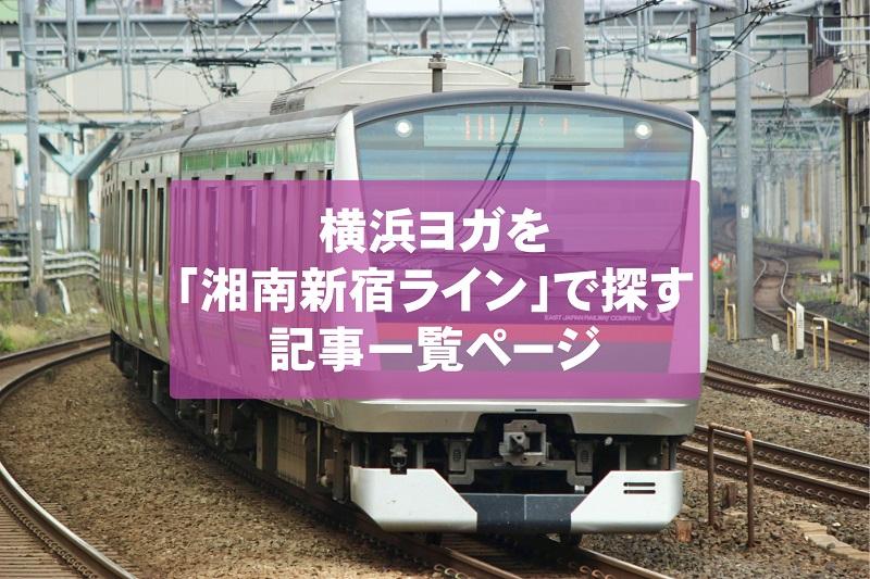 横浜ヨガスタジオを「JR湘南新宿ライン」沿いで探したい場合の記事一覧