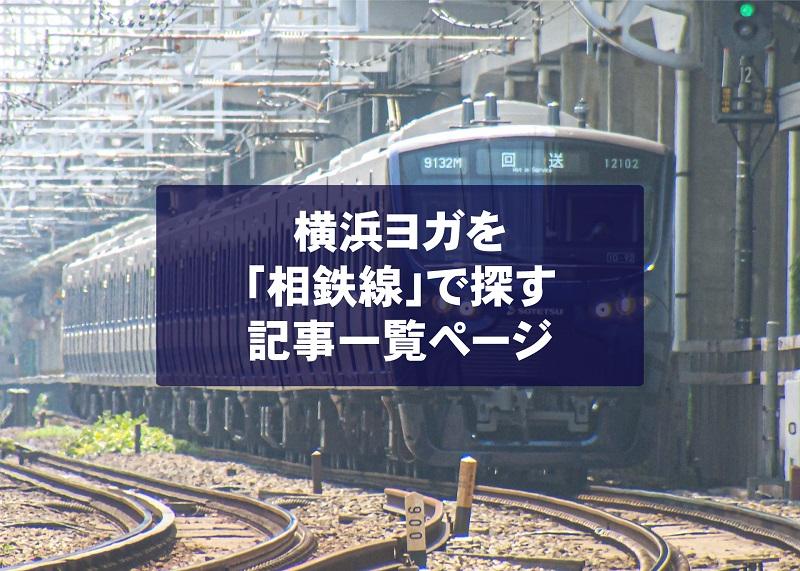 横浜ヨガスタジオを「相鉄線」沿いで探したい場合の記事一覧