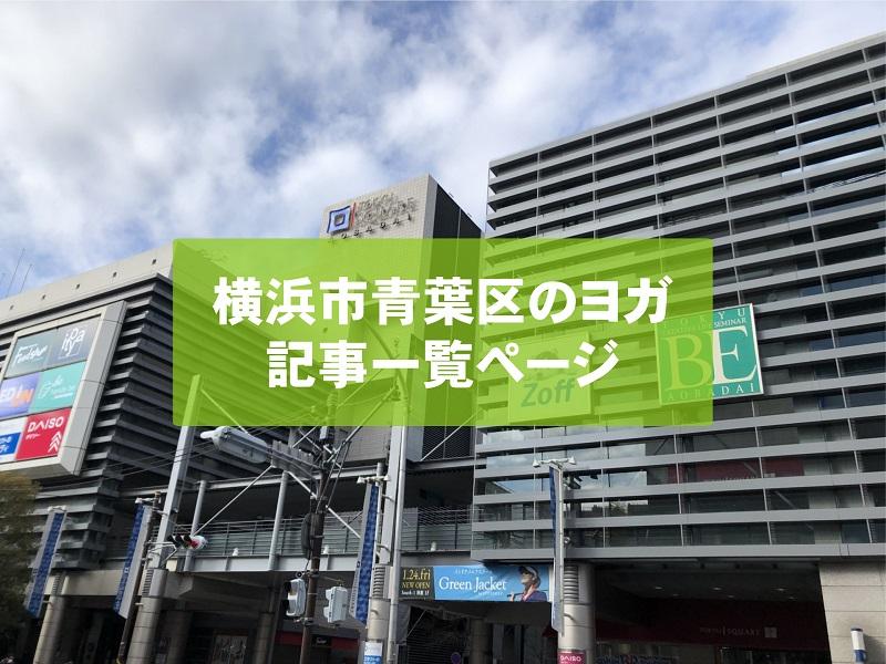 「横浜市青葉区」のヨガスタジオ記事一覧