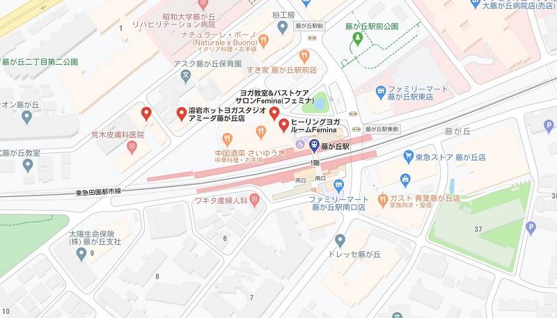 藤が丘のヨガスタジオ マップ検索結果