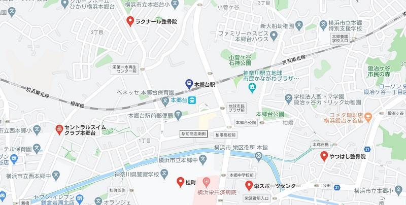 本郷台ヨガ ヨガマップ