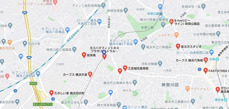 片倉町駅周辺ヨガマップ