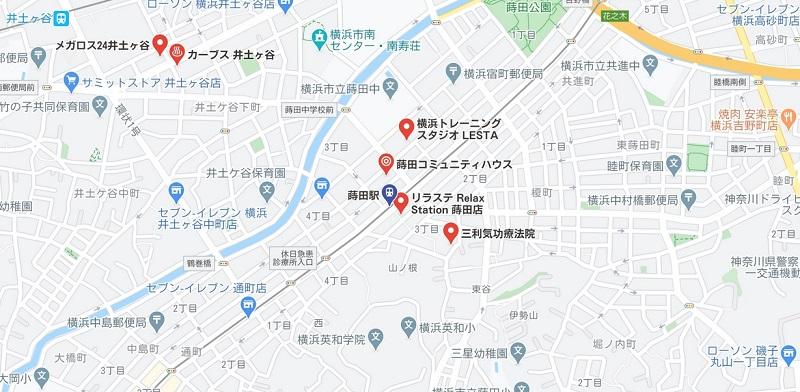 蒔田駅周辺のヨガ マップ検索