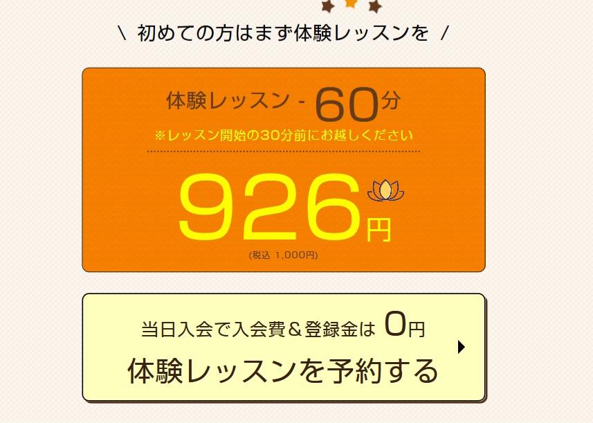 蒔田駅周辺のヨガ 体験レッスン例