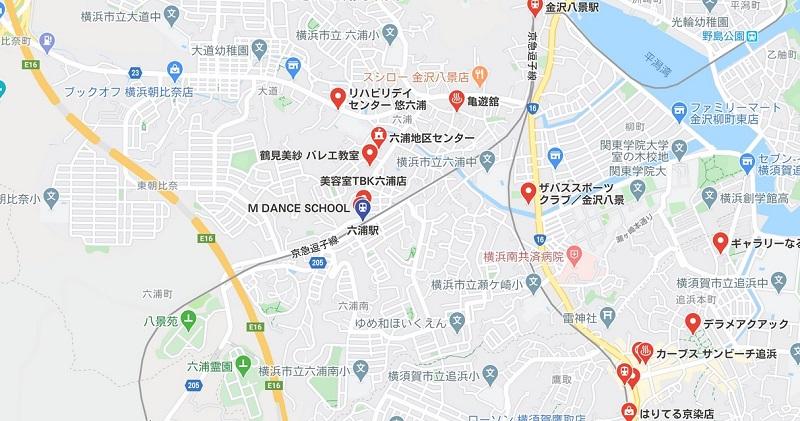 六浦駅周辺のヨガ マップ検索結果