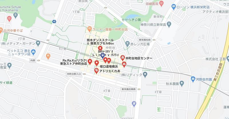 仲町台駅近くのヨガ ヨガマップ