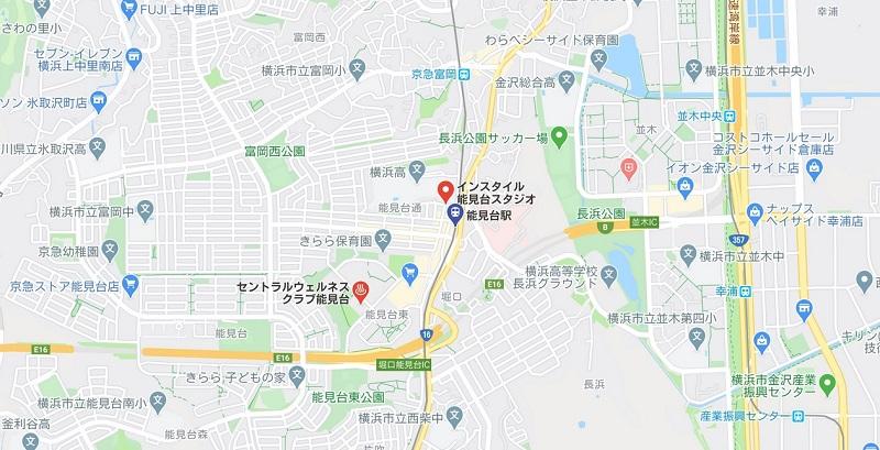 能見台駅周辺ヨガマップ