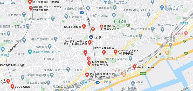大口駅周辺のヨガ ヨガマップ検索