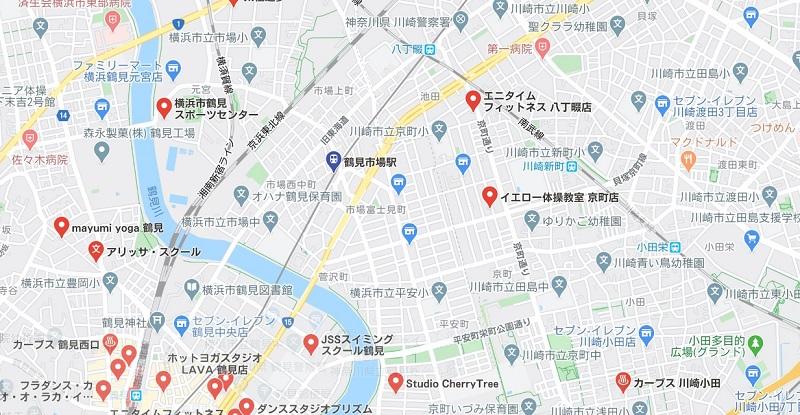 鶴見市場駅周辺のヨガ ヨガマップ