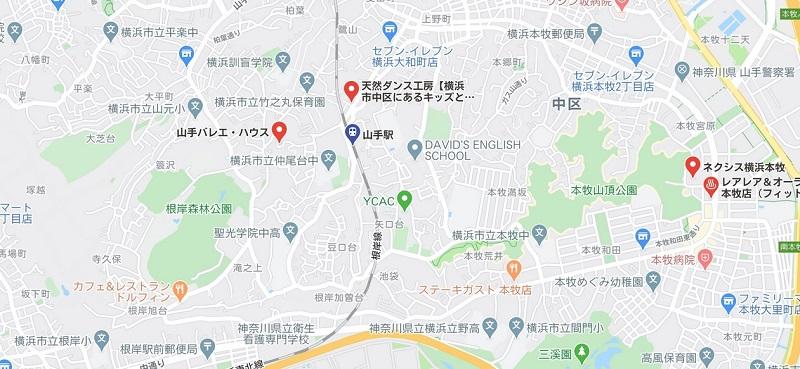 山手駅周辺のヨガマップ検索結果